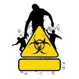 Zombie sign 2 stock illustration