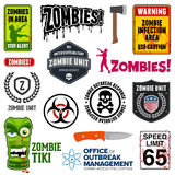 Zombie Signs. Set of zombie signs, graphics, and related symbols Royalty Free Stock Image