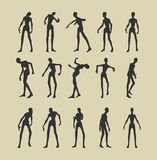 Zombie silhouettes set Stock Photo