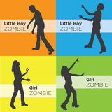 Zombie Silhouettes Royalty Free Stock Photography