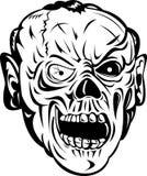 Zombie skull bone face Royalty Free Stock Photo