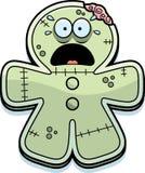 Zombie spaventato del pan di zenzero del fumetto illustrazione di stock