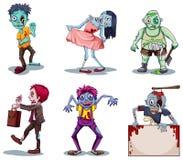Zombie spaventosi illustrazione vettoriale