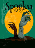 Zombie Spooky Party Halloween poster Royalty Free Stock Photography