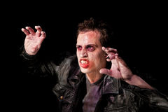 Zombie in spotlight stock photos