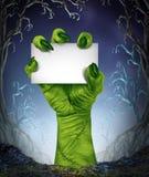 Zombie-steigendes Zeichen Stockfotografie