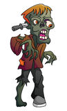 Zombie su bianco isolato Immagine Stock