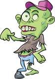 Zombie sveglio del fumetto Isolato Fotografia Stock