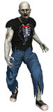 Zombie in a tattered clothes. 3D render of a zombie man in a tattered clothes Stock Image