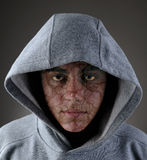 Zombie Teen in Hoodie Stock Photos