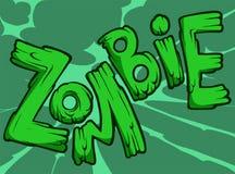 Zombie text Stock Image