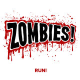 Zombie Text. Zombies! Text lettering illustration comic design Royalty Free Stock Photos