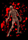 Zombie Threat. A horrible walking zombie with added blood Stock Image