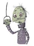 Zombie timidi Personaggio dei fumetti Fotografie Stock Libere da Diritti