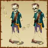 Zombie in two versions, cartoon character for Royalty Free Stock Photos