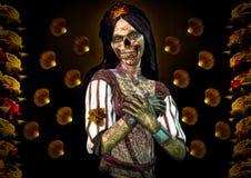 Zombie und Rosen Stockbild