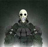 Zombie or vampire hunter. Cartoon vector illustration. royalty free illustration