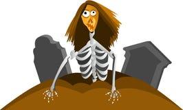 Zombie van graf Stock Afbeeldingen