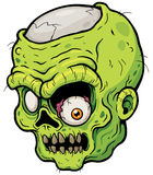 Zombie. Vector illustration of Cartoon Zombie face stock illustration