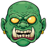 Zombie. Vector illustration of Cartoon Zombie Face royalty free illustration