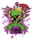 Zombie. Vector illustration ideal for printing on apparel clothes Royalty Free Stock Photos