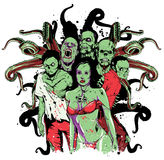 Zombie. Vector illustration ideal for printing on apparel clothes Royalty Free Stock Image