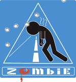 Zombie. Vector images sign attention zombie Royalty Free Stock Photo