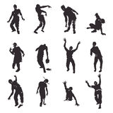 Zombie. Vector Zombie silhouettes set on white background Stock Images