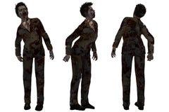 Zombie in vestito Fotografia Stock Libera da Diritti
