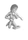 Zombie violinist Stock Photo