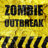 Zombie virus concept background royalty free illustration