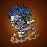 Zombie Vliegend hoofd Royalty-vrije Stock Afbeeldingen