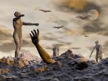 Zombie voor 3D Halloween - geef terug vector illustratie