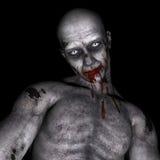 Zombie voor 3D Halloween - geef terug Stock Afbeelding