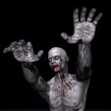Zombie voor 3D Halloween - geef terug Stock Foto