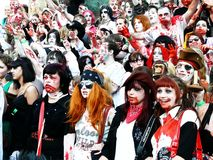 Zombie walk Stock Image