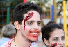 Zombie walk in Brazil Stock Photo