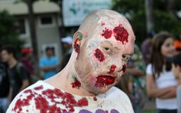 Zombie walk in Brazil Stock Photos