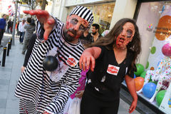 Zombie Walk Istanbul Royalty Free Stock Photography