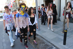 Zombie Walk Istanbul Royalty Free Stock Photo