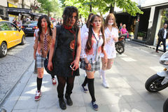 Zombie Walk Istanbul Stock Photography