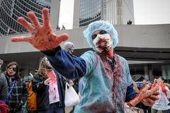 Zombie Walk Stock Photo