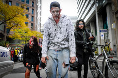 Zombie Walk. TORONTO - OCTOBER 26: People take part in the 11th Zombie Walk Parade in Toronto, Canada on October 26, 2013 Stock Images