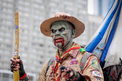 Zombie Walk. TORONTO - OCTOBER 26: People take part in the 11th Zombie Walk Parade in Toronto, Canada on October 26, 2013 Royalty Free Stock Photography
