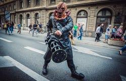 Zombie Walk in Warsaw Stock Photography