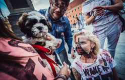 Zombie Walk in Warsaw Royalty Free Stock Photo