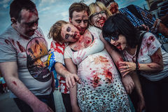 Zombie Walk in Warsaw Royalty Free Stock Photos