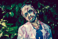 Zombie walking Royalty Free Stock Photography