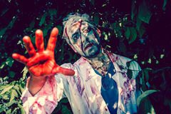 Zombie walking Stock Photo