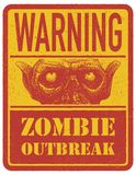 Zombie. Warning sign. Hand drawn. Vector Stock Photography